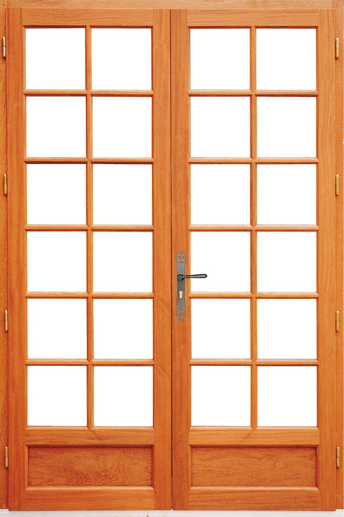 Fenetre simple vitrage bois for Porte interieur petit carreaux